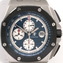 Audemars Piguet Royal Oak Offshore Chronograph Платина 44mm Синий Без цифр