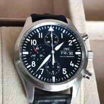 IWC Pilot Chronograph Stal 42mm Czarny Arabskie