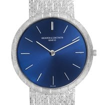 Vacheron Constantin White gold Manual winding Blue 33mm pre-owned Patrimony