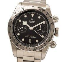 Tudor Black Bay Chrono brukt 41mm Svart Kronograf Dato Tachymeter Stål
