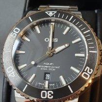 Oris 01 733 7653 4154-07 8 26 01PEB Steel Aquis Date pre-owned