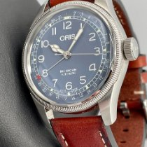 Oris Big Crown Pointer Date pre-owned 40mm Blue Date Leather
