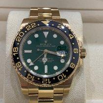 Rolex GMT-Master II Желтое золото 40mm Зеленый Без цифр