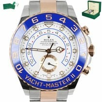 Rolex Yacht-Master II pre-owned 44mm White Fold clasp