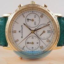 Blancpain Villeret neu 1993 Automatik Chronograph Uhr mit Original-Box und Original-Papieren 1186.1418.58