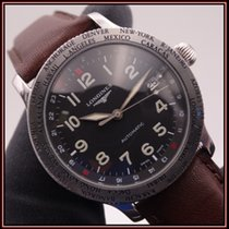 Longines Avigation Stahl 38mm Schwarz Arabisch