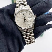 Rolex Day-Date 36 White gold 36mm Silver No numerals UAE, Abu Dhabi