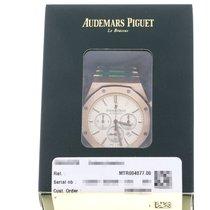 Audemars Piguet Royal Oak Chronograph Or rose 41mm Argent Sans chiffres Belgique, Antwerp