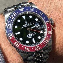 Rolex GMT-Master II Сталь 40mm Черный Без цифр
