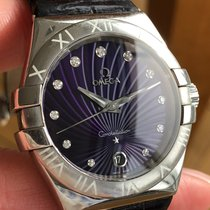 Omega Constellation Quartz Steel 35mm Purple