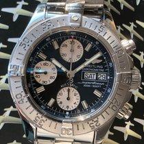 Breitling Superocean Chronograph II Steel 42mm Black No numerals