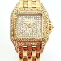 Cartier Gelbgold Quarz Gold (massiv) Keine Ziffern 30mm gebraucht Panthère