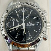 Omega Speedmaster Date Steel 39mm Black No numerals