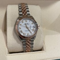 Rolex Rose gold Automatic Mother of pearl 28mm pre-owned Lady-Datejust