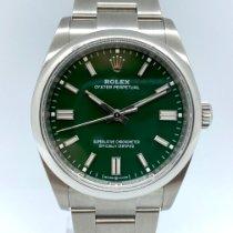 Rolex Oyster Perpetual 36 Сталь 36mm Зеленый Без цифр
