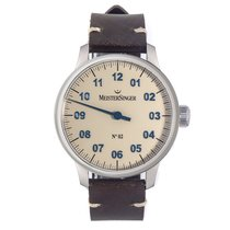 Meistersinger N° 02 Steel 43mm Champagne Arabic numerals