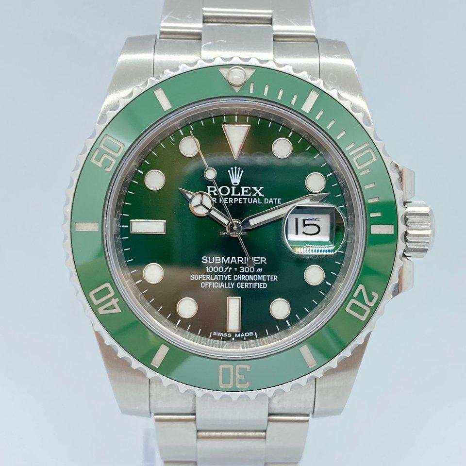 Rolex Submariner Date 116610LV Hulk 2014 pre-owned