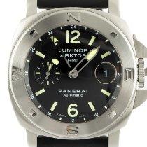 Panerai Luminor GMT Automatic Сталь 44mm Черный