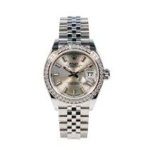 Rolex Lady-Datejust Steel 28mm Silver No numerals
