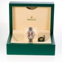 Rolex Lady-Datejust Stahl 28mm Pink Römisch
