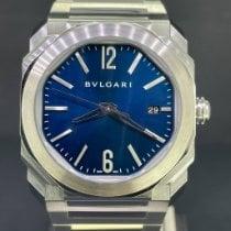 Bulgari Octo Steel 38mm Blue Arabic numerals
