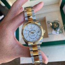 Rolex Sky-Dweller Gold/Steel 42mm White No numerals Australia, 6005