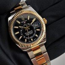 Rolex Желтое золото Автоподзавод Черный Без цифр 42mm подержанные Sky-Dweller