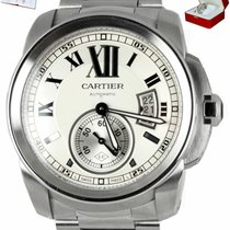 Cartier Calibre de Cartier Steel 42mm White Roman numerals United States of America, New York, Smithtown