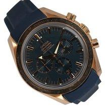 Omega Speedmaster Broad Arrow Pозовое золото 42mm Синий Без цифр