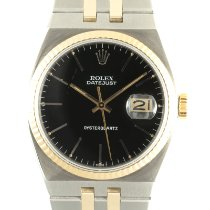 Rolex Datejust Oysterquartz Oro/Acciaio 36mm Nero