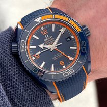 Omega Ceramic Automatic Blue Arabic numerals 45.5mm pre-owned Seamaster Planet Ocean