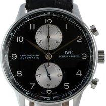 IWC Portuguese Chronograph begagnad 41mm Svart Läder