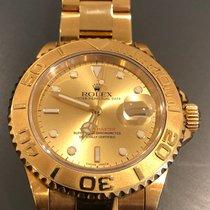 Rolex Желтое золото Автоподзавод Цвета шампань Без цифр 40mm подержанные Yacht-Master