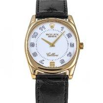 Rolex Oro amarillo Cuerda manual Blanco Arábigos 34mm usados Cellini Danaos