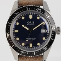 Oris Divers Sixty Five pre-owned 42mm Blue Date Leather