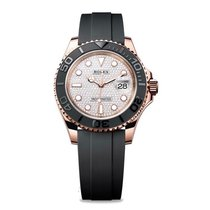 Rolex Yacht-Master 40 Rose gold 40mm Silver No numerals
