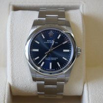 Rolex Oyster Perpetual 34 Steel 34mm Blue No numerals United States of America, California, Beverly Hills