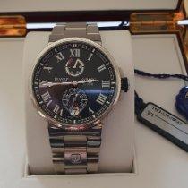 Ulysse Nardin Marine Chronometer Manufacture occasion Noir Date Acier