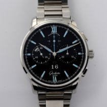 Glashütte Original Senator Chronograph Panorama Date Steel 42mm Black Roman numerals