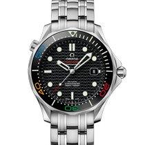 Omega Steel Automatic Black No numerals 41mm new Seamaster Diver 300 M