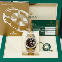 Rolex Datejust Gold/Steel 36mm Black No numerals United States of America, California, Los Angeles