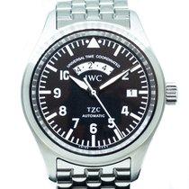 IWC 파일럿 스핏파이어 UTC 스틸 39mm 검정색 아라비아 숫자