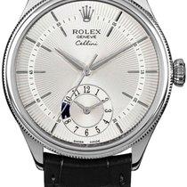 Rolex Cellini Dual Time 50529 Новые Белое золото 39mm Автоподзавод