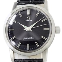 Omega Seamaster pre-owned 33mm Black Leather