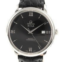 Omega Steel Automatic Black 39.5mm pre-owned De Ville Prestige