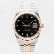 Rolex 16233 Gold/Steel 1990 Datejust 36mm pre-owned United Kingdom, Guildford,Surrey