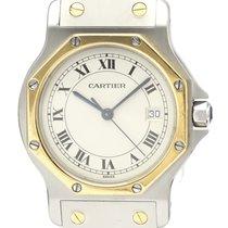 Cartier Santos (submodel) 187902 Хорошее Золото/Cталь 29mm Кварцевые