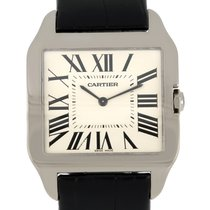 Cartier 2651 White gold 2009 Santos Dumont 35mm pre-owned