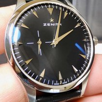 Zenith Steel Automatic Black 40mm pre-owned Elite Ultra Thin