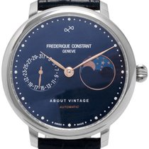 Frederique Constant Slimline Moonphase pre-owned 40mm Leather